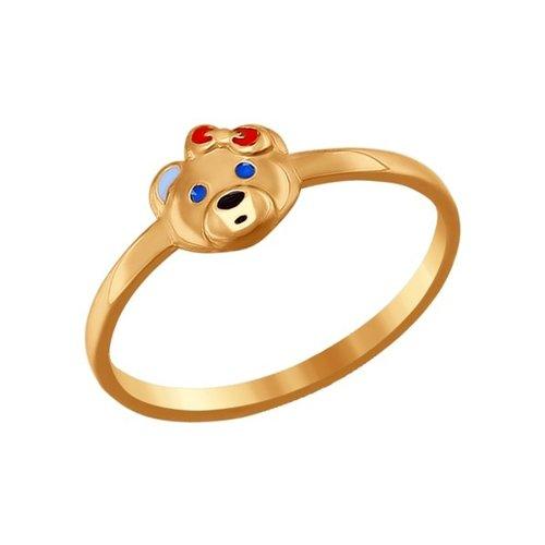 Детское кольцо «Мишка»