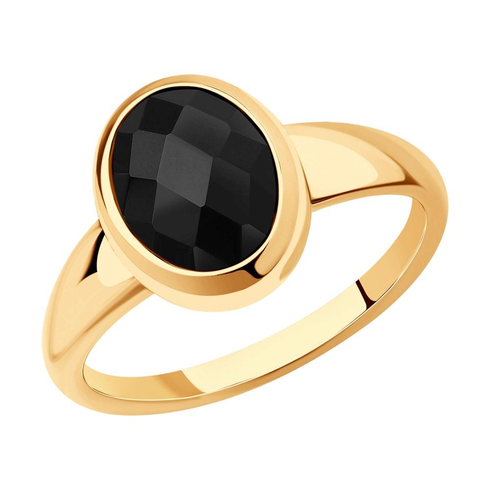 Кольцо SOKOLOV из золота с родированием с агатом