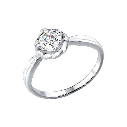 Помолвочное кольцо из белого золота с розой