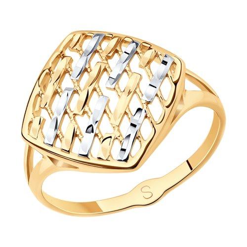 Кольцо из золота с алмазной гранью (017998) - фото