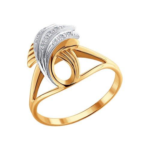 Кольцо из двух видов золота с бриллиантами