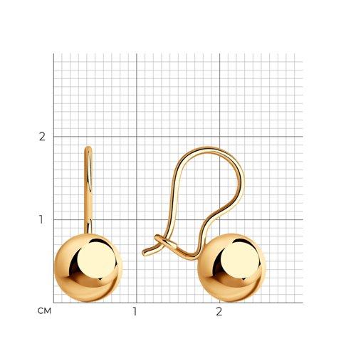 Серьги из золота (026751) - фото №2