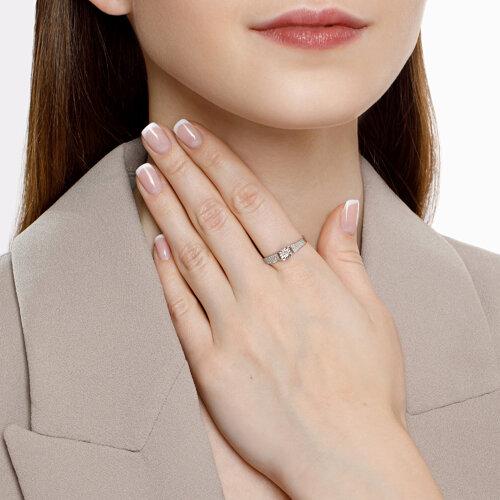 Кольцо из белого золота с бриллиантами (1011803) - фото №4