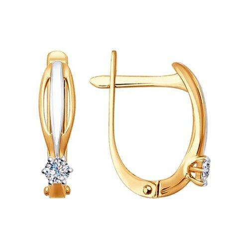 Серьги из золота с бриллиантами (1020893) - фото