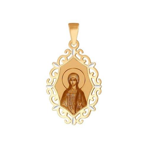 Золотая нательная иконка «Святая мученица Татьяна» SOKOLOV иконка святая мученица раиса sokolov