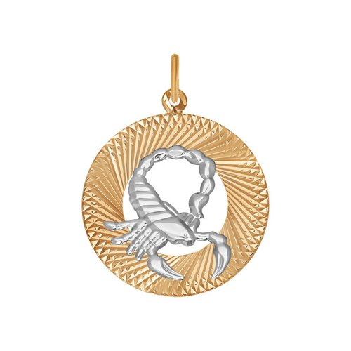 Фото - Подвеска знак зодиака SOKOLOV из комбинированного золота «Скорпион» подвеска знак зодиака рак sokolov из комбинированного золота