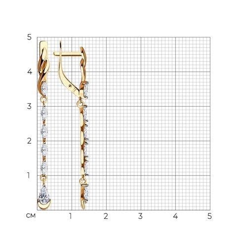 Серьги из золота с фианитами 028366 SOKOLOV фото 2
