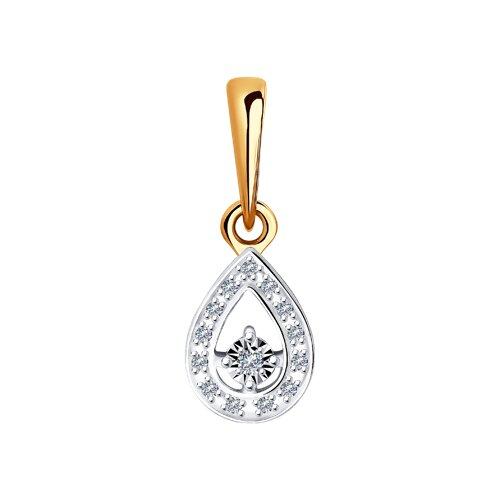 Подвеска из комбинированного золота с бриллиантами 1030782 SOKOLOV фото