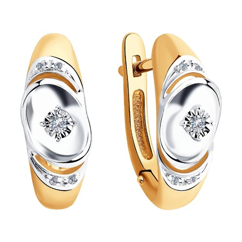 Серьги из золота с бриллиантами (1021340) - фото №2