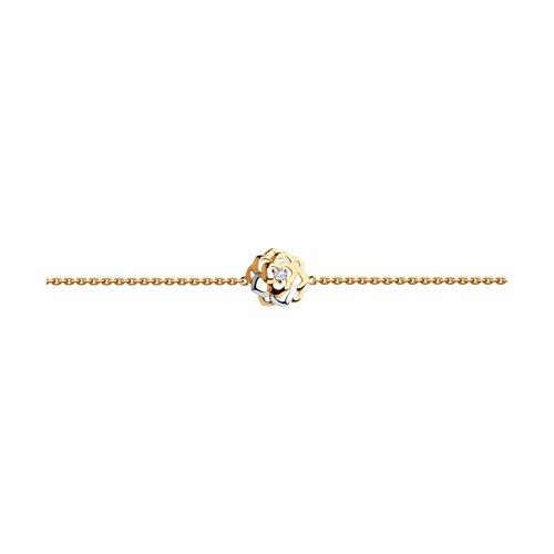 Браслет из золота с фианитом (8-050002) - фото