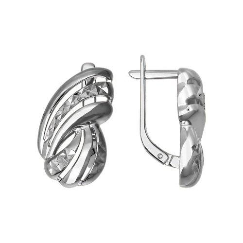 Женские серебряные серьги с алмазной гранью sokolov серебряные серьги с куб циркониями nd89020024