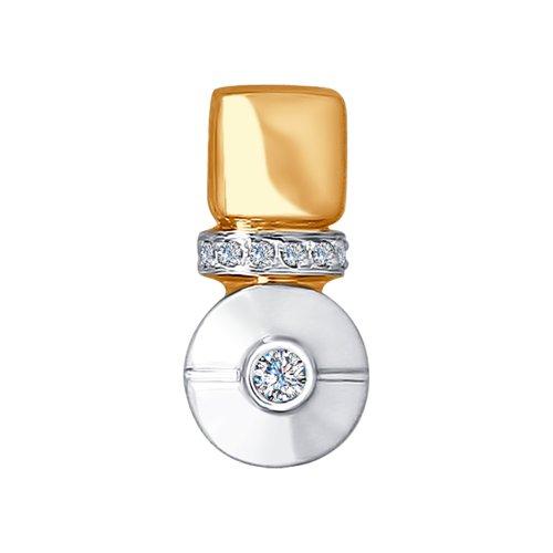 Подвеска из золота с бриллиантами (1030589) - фото