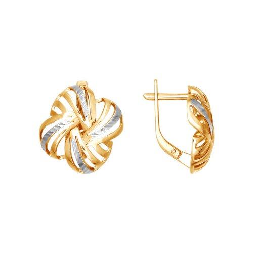 Серьги из золота с алмазной гранью (026409) - фото
