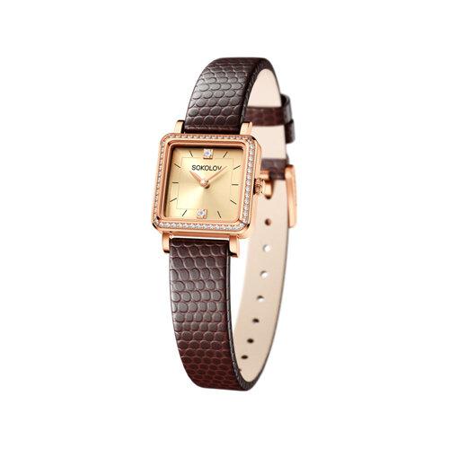 Женские золотые часы (232.01.00.100.06.07.2) - фото
