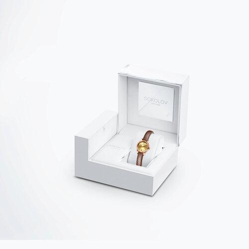 Женские золотые часы (211.01.00.000.02.03.3) - фото №4