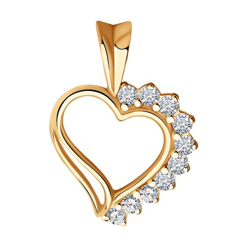 Подвеска «Сердце» SOKOLOV из золочёного серебра