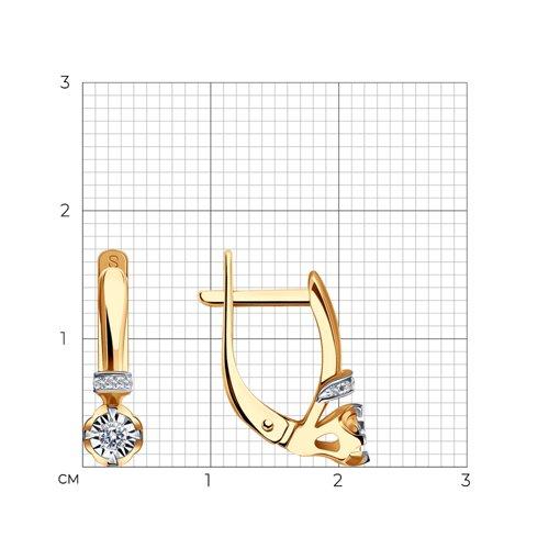 Серьги из золота с бриллиантами 1020719 SOKOLOV фото 2