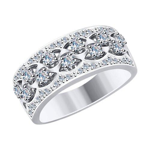 Кольцо из белого золота с бриллиантами (1011776) - фото