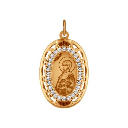 Нательная иконка «Святая Преподобная Аполлинария» (103507) - фото