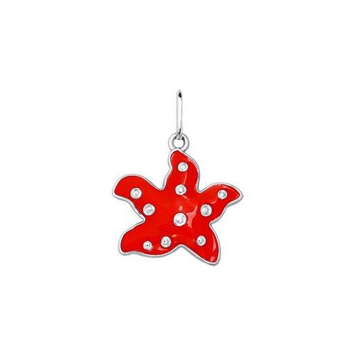 Фото - Детская подвеска «Красная морская звезда» SOKOLOV кольцо с фианитами морская звезда sokolov