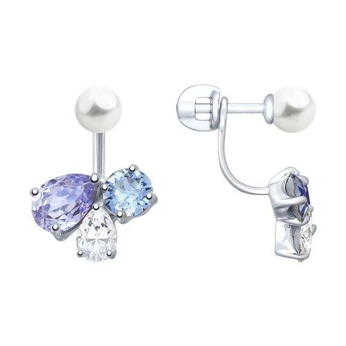 Серьги-джекеты с кристаллами Swarovski