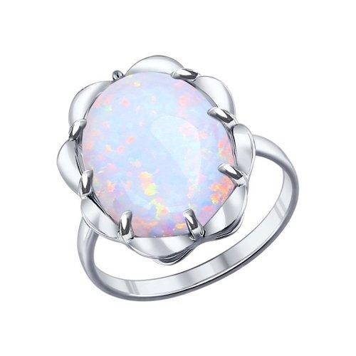 Кольцо из серебра с белым опалом