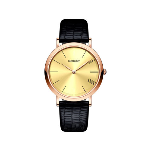 Женские золотые часы (204.01.00.000.03.01.2) - фото №2