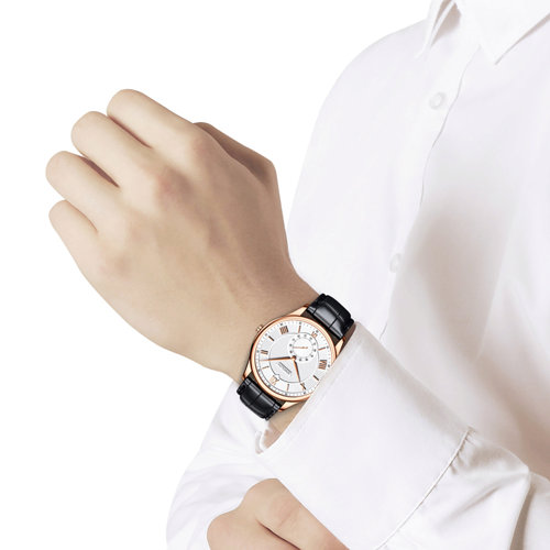 Мужские золотые часы (237.01.00.000.01.01.3) - фото №3