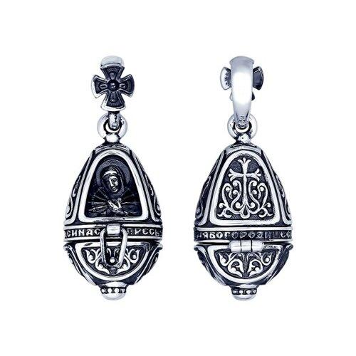 Ладанка из серебра «Божья Матерь Семистрельная»