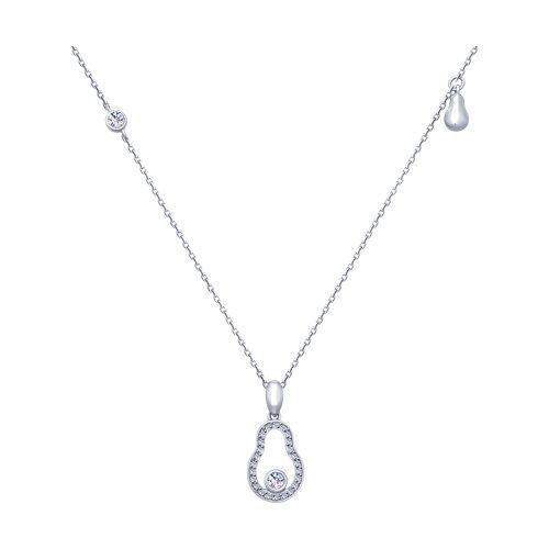 Колье из серебра с фианитами (94070224) - фото