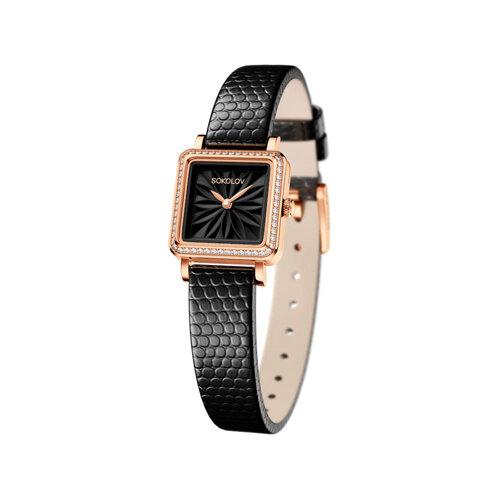 Женские золотые часы (232.01.00.100.04.01.2) - фото