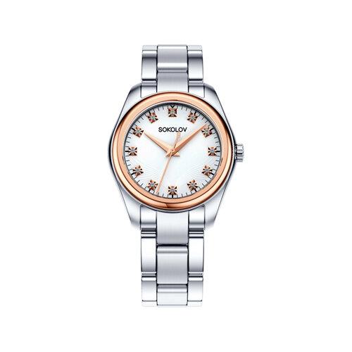Женские часы из золота и стали (140.01.71.000.01.01.2) - фото №2
