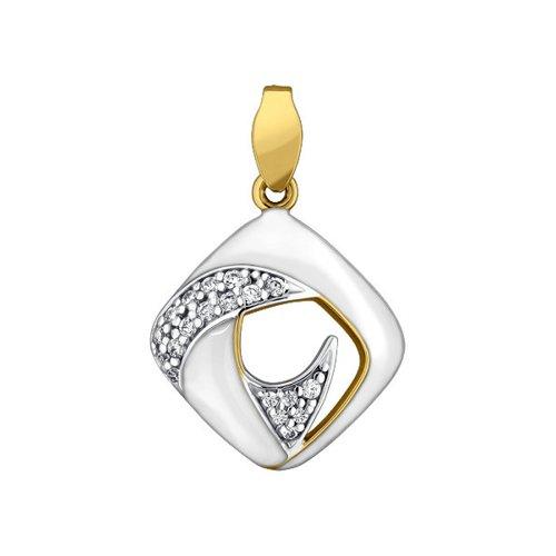 Подвеска SOKOLOV из жёлтого золота с эмалью с фианитами подвеска с 27 фианитами из жёлтого золота