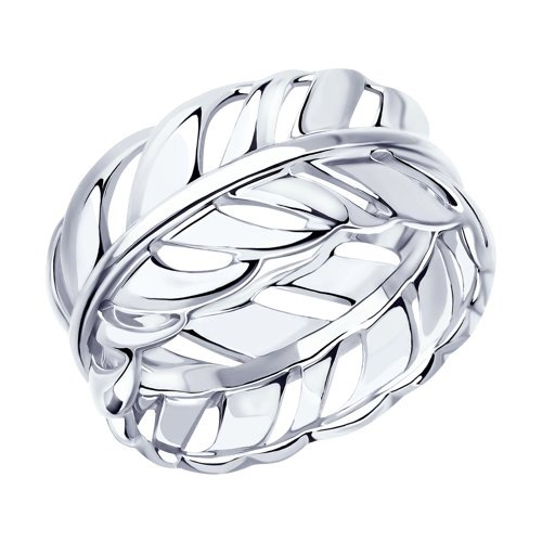 Кольцо из серебра (94012939) - фото