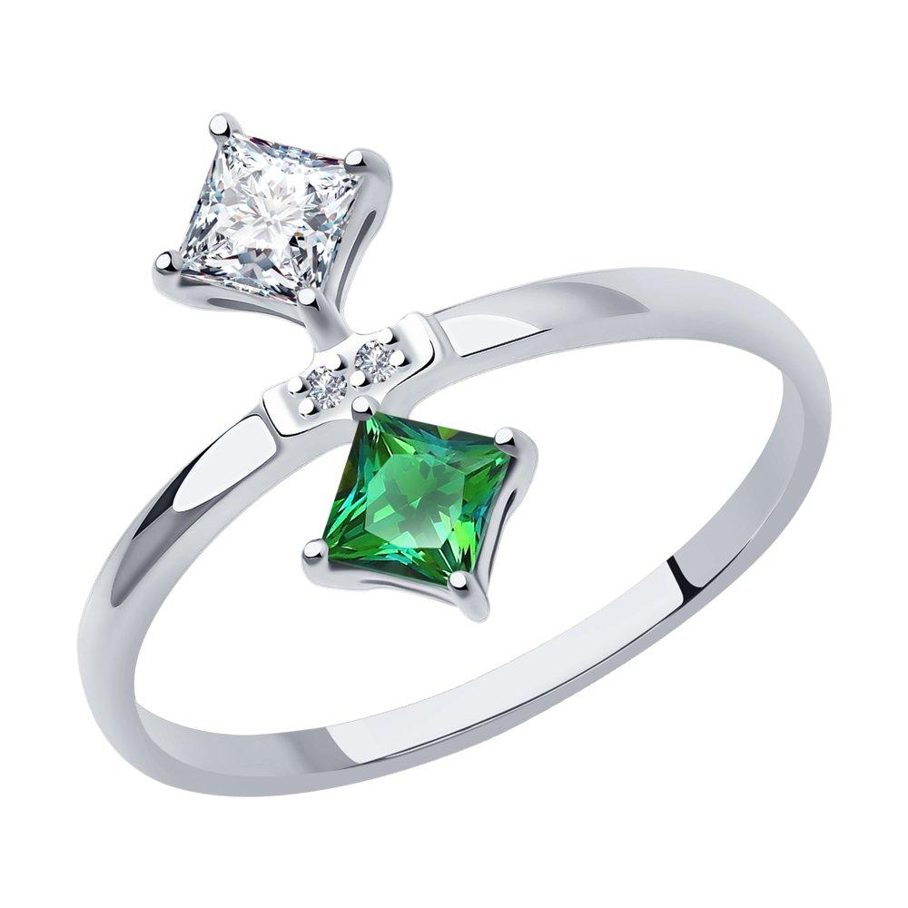 кольцо с бриллиантами топазами из красного золота Кольцо SOKOLOV из белого золота с бриллиантами и топазами Swarovski