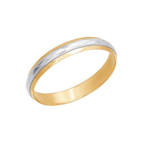Комбинированное обручальное кольцо SOKOLOV