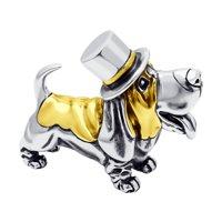 Сувенир «Собака» из золочёного серебра
