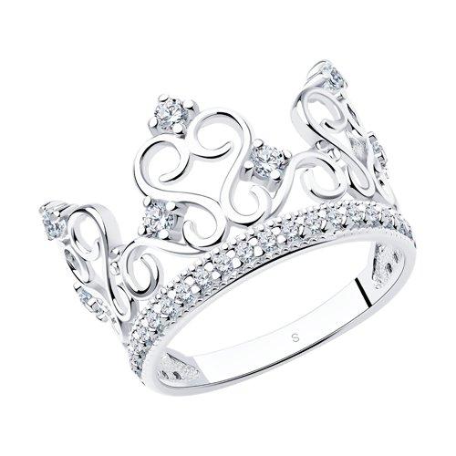 Кольцо «Корона» SOKOLOV из белого золота золотое кольцо корона sokolov