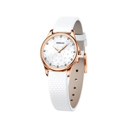 Женские золотые часы (238.01.00.000.08.02.2) - фото