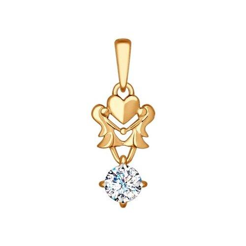 подвеска знак зодиака рак sokolov из красного золота Подвеска «Знак зодиака Близнецы» SOKOLOV из красного золота
