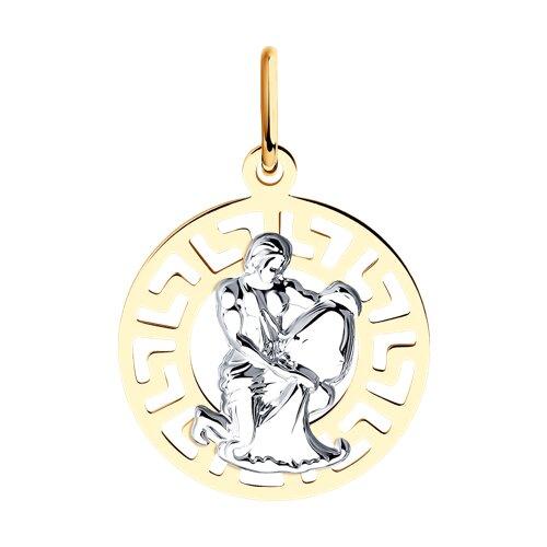 Подвеска «Знак зодиака Водолей» из золота (031304) - фото