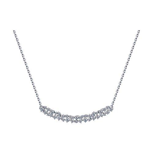 Колье из серебра с фианитами 94070281