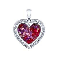 Серебряная подвеска «Сердце» с фианитами