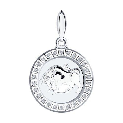 Подвеска «Знак зодиака Телец» из серебра