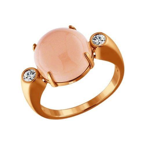 Позолоченное кольцо с агатом SOKOLOV