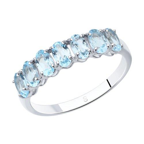 Кольцо из серебра с топазами (92010892) - фото