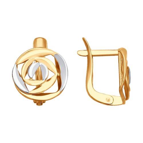 Серьги из золота (027634-4) - фото