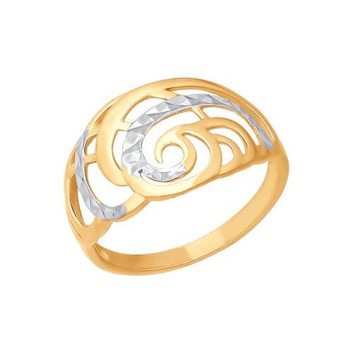 Кольцо SOKOLOV из золота спирали с алмазной гранью