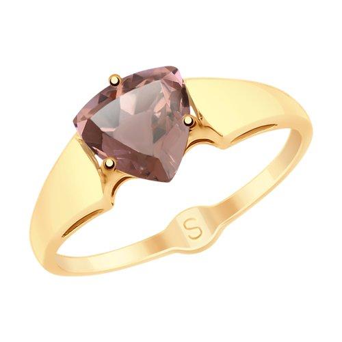 Кольцо из золота с ситаллом султанит (715457) - фото