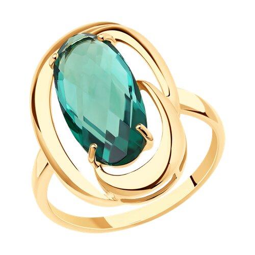 Кольцо из золота с кварцем (714345) - фото
